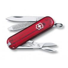 VICTORINOX kapesní nůž CLASSIC SD červený průhledný