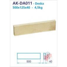 Deska akumulační rovná drážkovaná 125x500x40 - AK-DA011