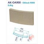 Oblouk R900 drážkovaný 250x30d -12 do kruhu - AK-OA0900