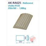 Roh R625 akumulační drážkovaný 125x125x250 - AK-RA625
