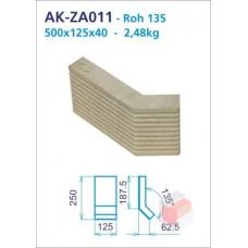 Roh 135 akumulační drážkovaný 125x250x125x40 - AK-ZA011