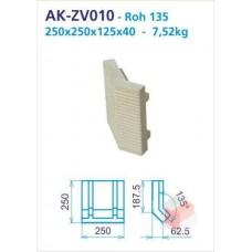 Roh 135 akumulační drážkovaný 125x250x250x40 vložka - AK-ZV010
