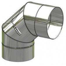 Koleno nerez stálé ø 150 mm / 90° s čistícím otvorem
