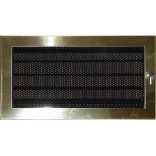 Krbová mřížka 190 x 490 leštěný mosaz s žaluzií PROBEX