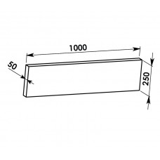 Rovná deska 1000x250x50mm - SILAPOR
