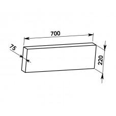 Rovná deska 700x220x75mm - SILAPOR