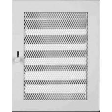 Krbová mřížka 185 x 235 bílá s žaluzií PROBEX