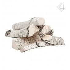 Okrasná keramika pro bio krb dekor BŘÍZA keramické dřevo