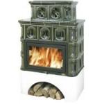 Kachlová kamna ABX Karelie zelená výměník 10,5kW
