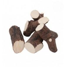 Okrasná keramika pro bio krb dekor TMAVÝ keramické dřevo